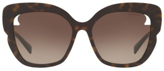 Tiffany & Co. Square Tortoiseshell Sunglasses with Cut-Out Lens