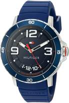 Tommy Hilfiger Men's Quartz Resin and Silicone Casual Watch, Color: (Model: 1791250)