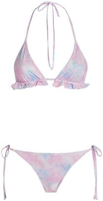 LoveShackFancy Riviera Triangle Bikini Set