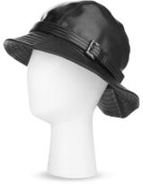 Glossy Grain Leather Bucket Hat