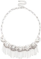 Sole Society Crystal And Fringe Statement Necklace
