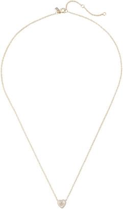 Ef Collection Topaz Heart Diamond Choker Necklace