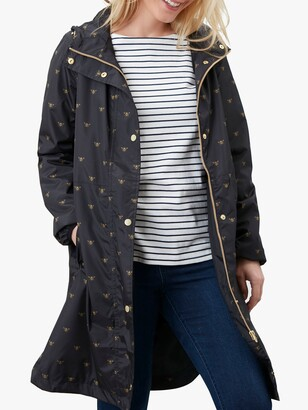 Joules Waybridge Bee Raincoat, Black
