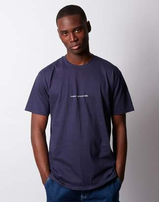 The Idle Man - Sunday Club Slow Times Embroidered T-Shirt Navy