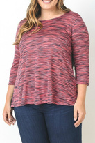 Gilli Fuschia Patterned Top