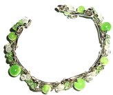 Tribe Lime Stainless Steel Flexible Bracelet / Wristband
