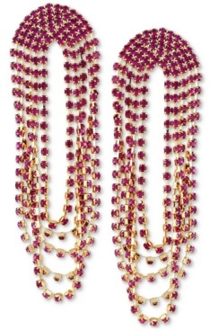 GUESS Gold-Tone Stone Strand Drop Earrings