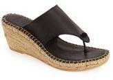 Andre Assous Women's 'Alyssa' Leather Espadrille Thong Sandal