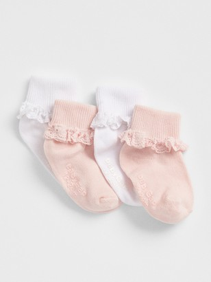 Gap Toddler Lace Roll Crew Socks (4-Pack)