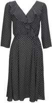 Wallis Petite Polka Dot Ruffle Fit and Flare Dress