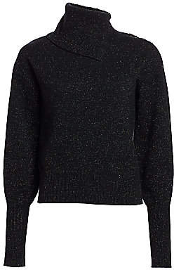 Generation Love Women's Metallic Turtleneck Sweater