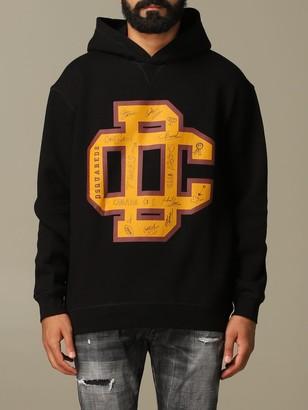 DSQUARED2 Sweatshirt Cotton Sweatshirt With Big Logo
