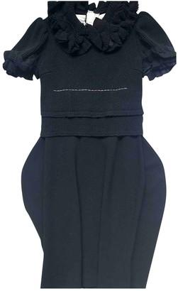 Comme des Garcons Black Wool Dresses