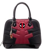 Bioworld Marvel Comics Deadpool Licensed Dome Satchel Handbag Purse Charm Top Handles New