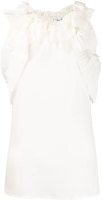 P.A.R.O.S.H. pleated ruffle detail blouse