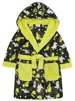 MiniKidz Childrens Dinosaur Print Soft Fleece Hooded Dressing Gown ~ 2-6 Years