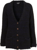 Topshop Knitted Boucle Boyfriend Cardi