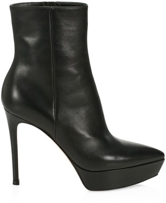 Gianvito Rossi Platform Leather Ankle Boots