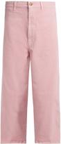 Marni Low-slung wide-leg cropped jeans