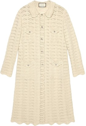 Gucci oversized crochet cardigan