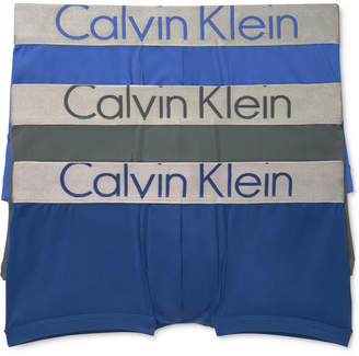 Calvin Klein Men 3-Pk. Steel Low-Rise Trunks