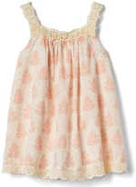 Gap Leafy lace-trim dress