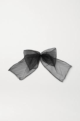 Maison Michel Pleated Tulle Hair Clip - Black