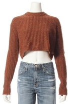 Tibi Elbow Patch Crewneck Neck Speckle Sweater