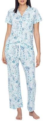 Karen Neuburger Floral Girlfriend Knit Pajama Set