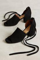 Hudson Shoes Tied Peeptoe Heels