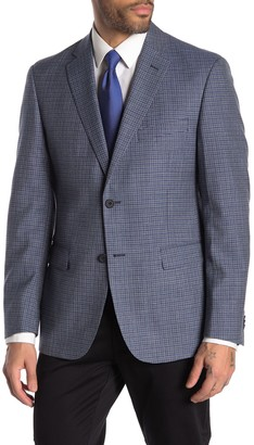 JB Britches Logan Blue Check Two Button Notch Lapel Sport Coat