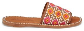 Miu Miu Crystal-Embellished Geometric Sandals