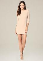 Bebe Metallic Scoopback Dress