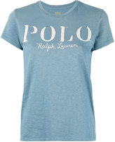 Polo Ralph Lauren logo print T-shirt - women - Cotton - S
