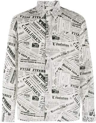 Sandro Paris newspaper print shirt