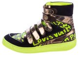 Louis Vuitton Graffiti Metallic-Trim Sneakers