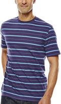 Claiborne Short-Sleeve Striped Crewneck Tee