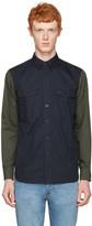 Rag & Bone Navy Contrast Shirt