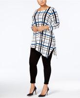 Alfani Plus Size Asymmetrical Tunic, Only at Macy's