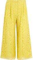 ADAM by Adam Lippes Corded Lace Culottes - Chartreuse
