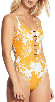 Seafolly Wild Tropics Ring Front One Piece