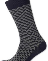 Charles Tyrwhitt Grey triangle socks