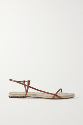 The Row Bare Leather Espadrille Sandals - Tan