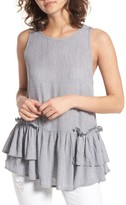 BP Women's Double Peplum Tank