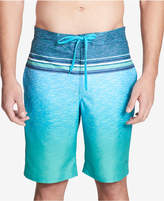 "Calvin Klein Men's Heathered Stripe 21 1/2"" Board Shorts"