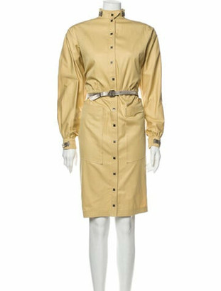 Thierry Mugler Vintage Knee-Length Dress Yellow