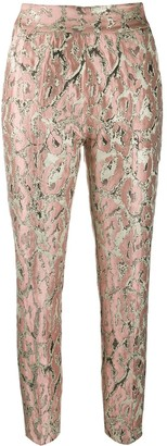 Christian Pellizzari Brocade Pattern Trousers