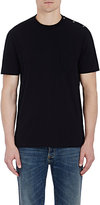 Maison Margiela Men's Snap-Detailed Cotton T-Shirt-BLACK