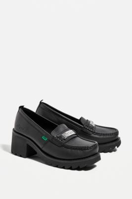 Kickers Black Klio Loafers - Black UK 3 at Urban Outfitters