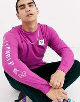 Rip N Dip RIPNDIP Lord Nermal long sleeve t-shirt in pink